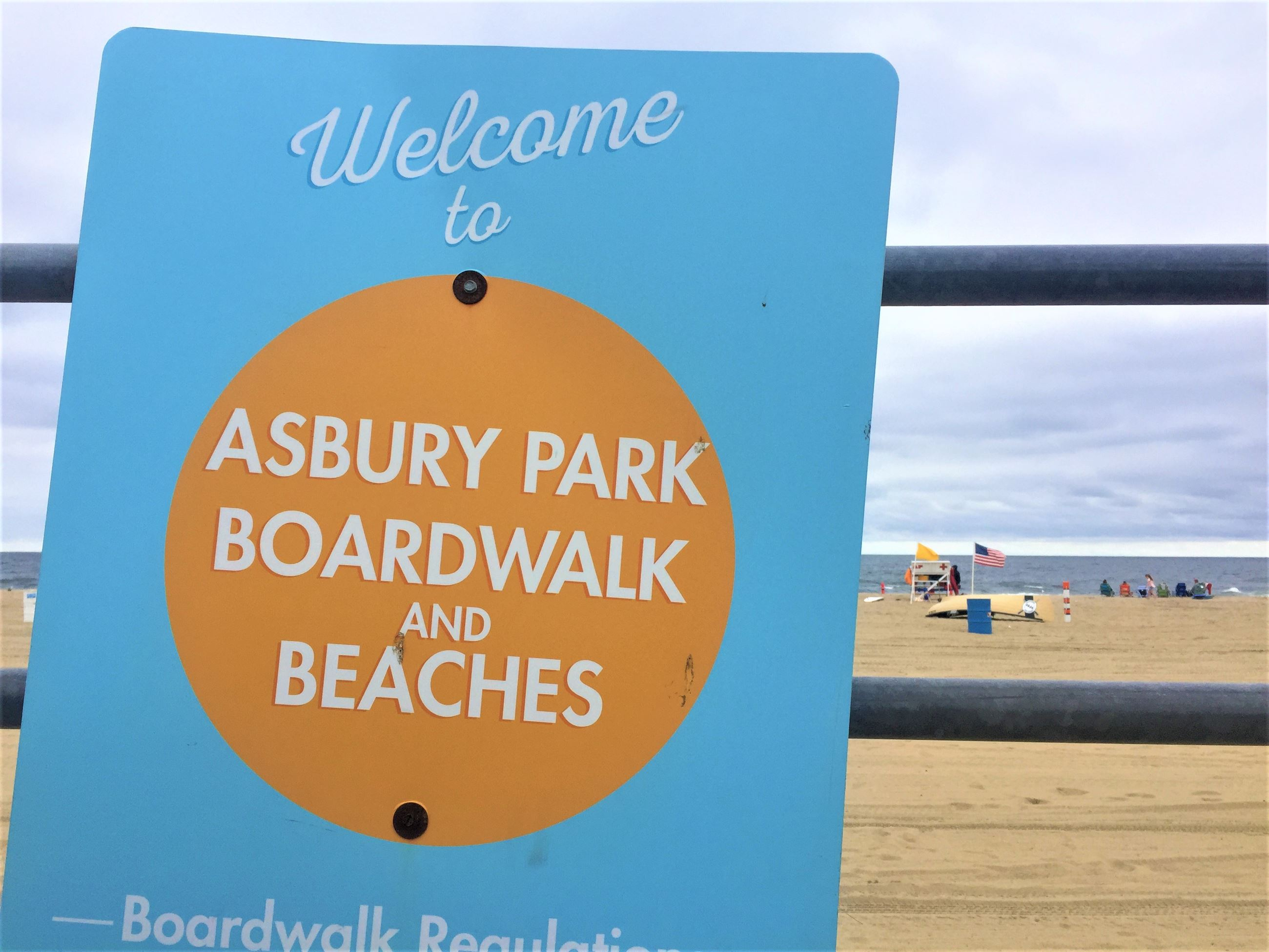 Asbury Park Boardwalk and Beaches Sign