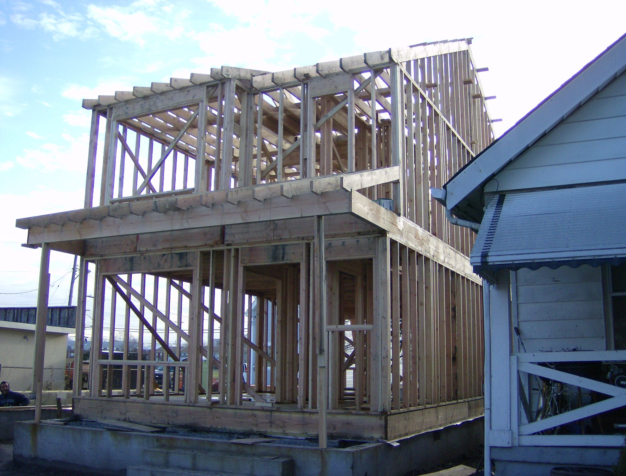 Two Story House Frame