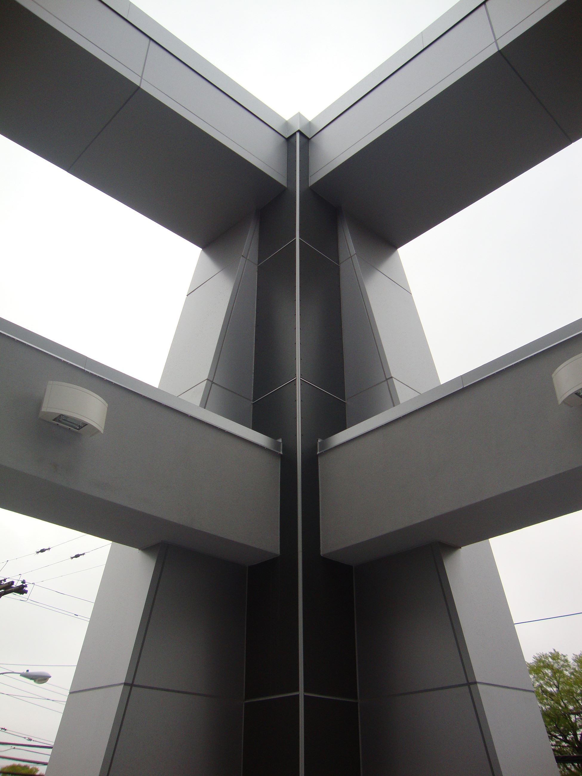 View from Below of Building Structure