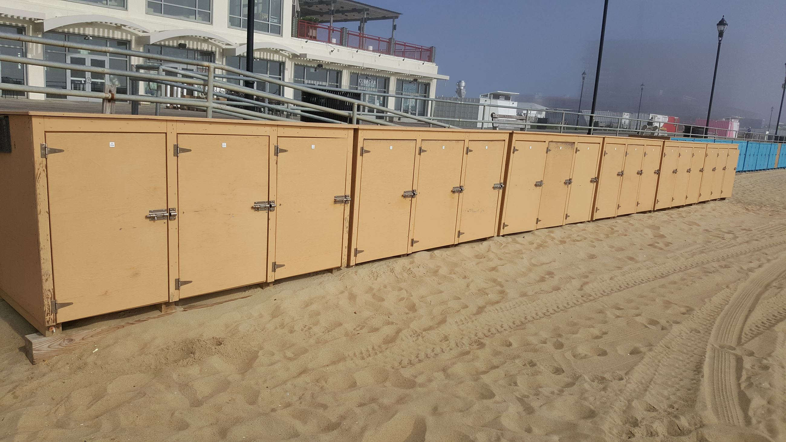 Lockers at Beach Front